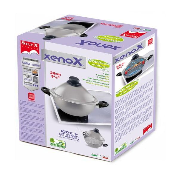 Pánev Silex Italia Xenox Wok se dvěma rukojeťmi, 24cm