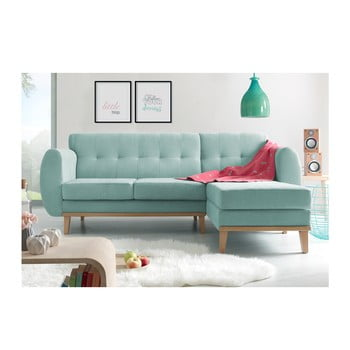 Canapea cu șezlong pe partea dreaptă Bobochic Paris Viking, albastru deschis de la Bobochic Paris
