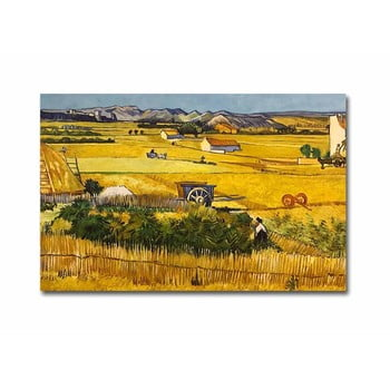 Reproducere tablou pe pânză Vincent Van Gogh The Harvest, 100 x 70 cm de la Unknown