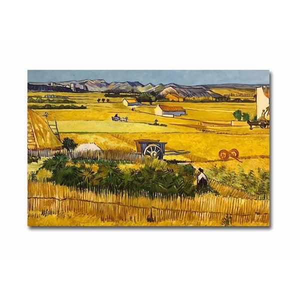 Fali vászon kép Vincent Van Gogh The Harvest másolat, 100 x 70 cm