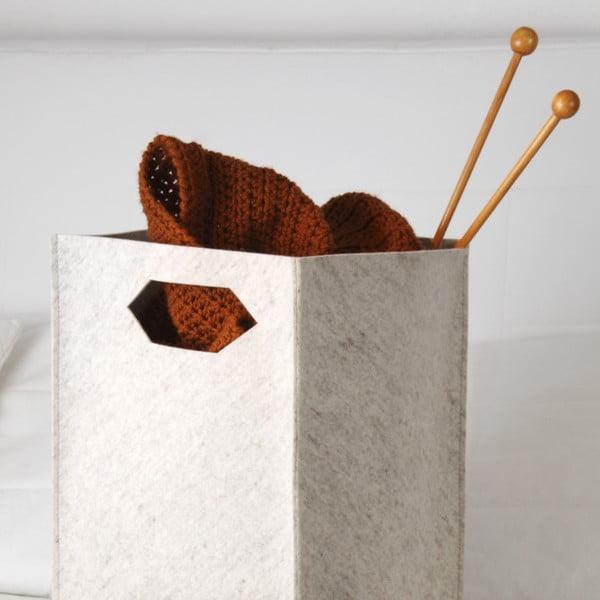 Plstěná krabice 36x30 cm, béžová