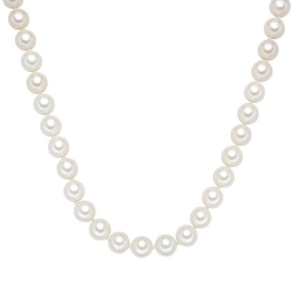 Náhrdelník s bílými perlami Perldesse Muschel, ⌀1,2xdélka40cm