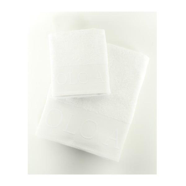 Sada 2 osušek Towel US Polo White, 50x90 a 90x150 cm