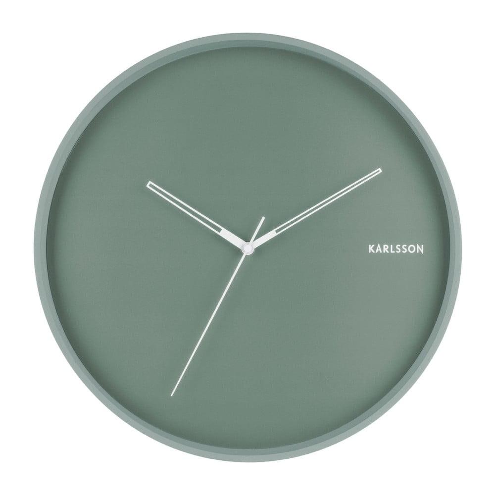 Mátově zelené nástěnné hodiny Karlsson Hue, ø 40cm Karlsson