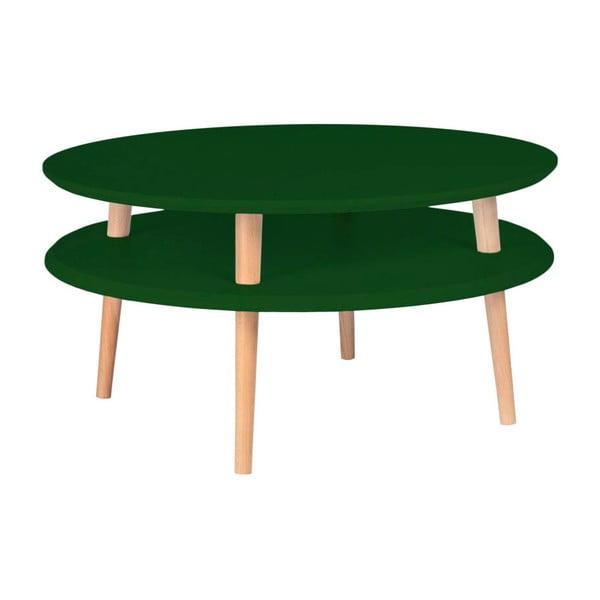 Ufo sötétzöld dohányzóasztal, ⌀ 70 cm - Ragaba