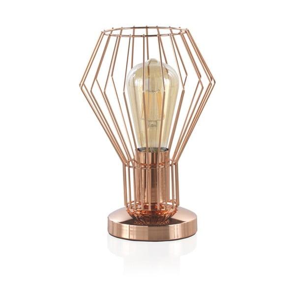 Rézszínű fém asztali lámpa, magassága 25 cm - Geese