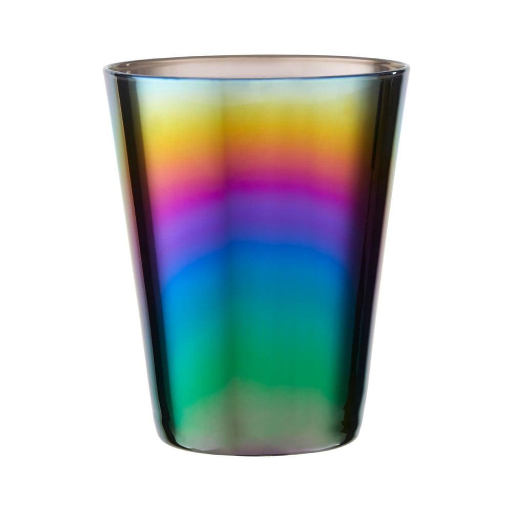 Sada 4 pohárků s duhovým efektem Premier Housewares Rainbow, 390 ml