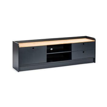 Masă TV cu blat în decor de lemn de pin Marckeric Monte, gri