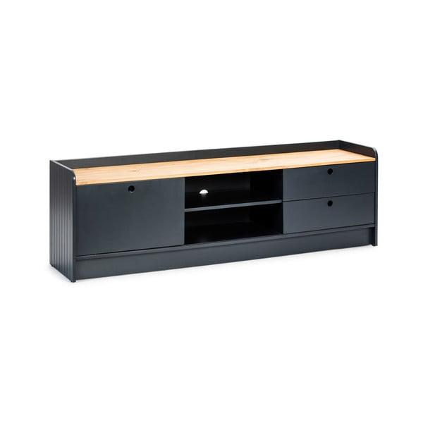 Monte szürke TV-állvány borovi fenyő asztallappal - Marckeric