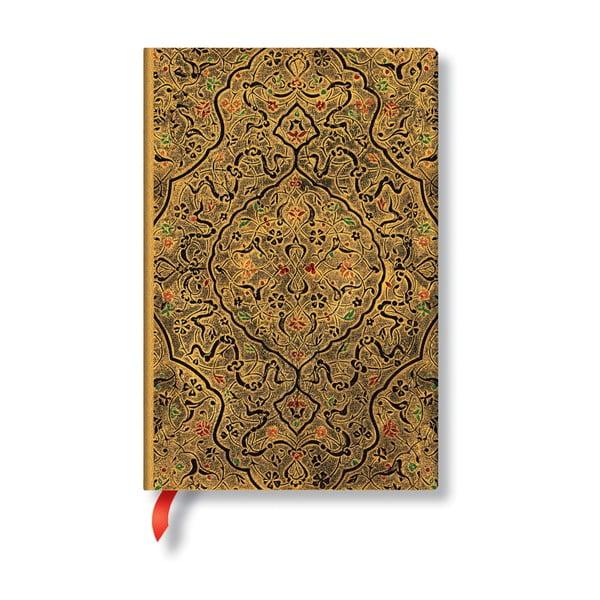 Agendă liniată, cu copertă moale Paperblanks Zahra, 208 file, auriu