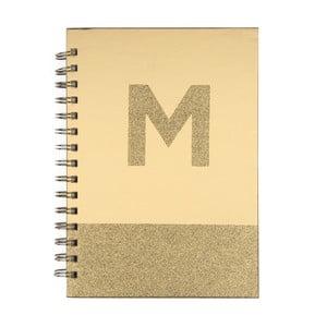 Zápisník Tri-CoastalDesign Monogram M