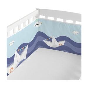 Textilní ohrádka do postýlky Happynois Sailor, 210 x 40cm