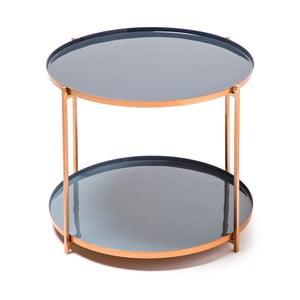 Modro-šedý odkládací stolek 360 Living Romy 422, ⌀ 57 cm