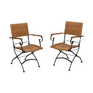 Set 2 scaune pliante de grădină din lemn de salcâm ADDU Graz