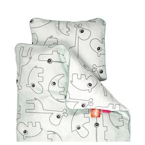 Lenjerie de pat pentru copii Done by Deer Contour, 70 x 80 cm, albastru