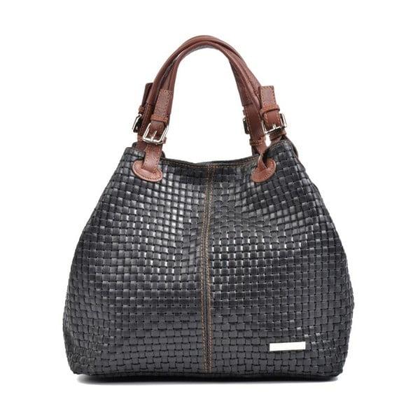 Čierna kožená kabelka Isabella Rhea Matildo