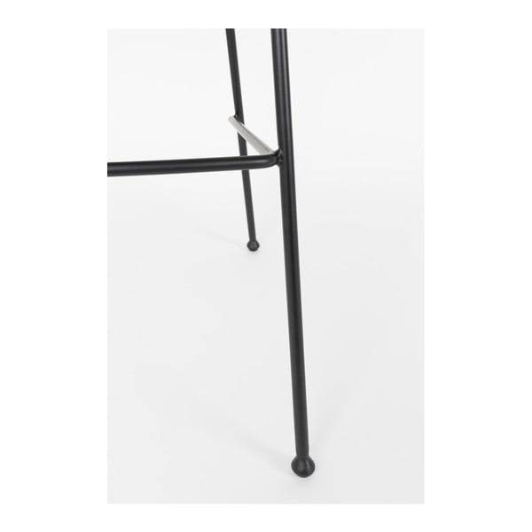 Set 2 scaune bar Zuiver Feston, înălțime scaun 76cm, negru