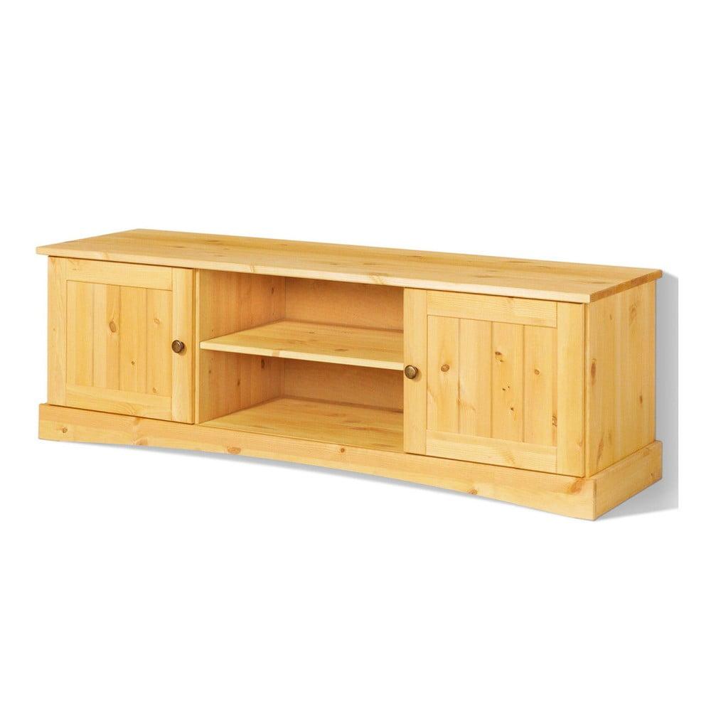 Dvoudveřový TV stolek z masivního borovicového dřeva Støraa Yvonne