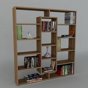 Knihovna Ample Walnut, 22x125x135,7 cm