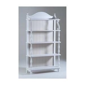 Bílá dřevěná knihovna Castagnetti  Sabine