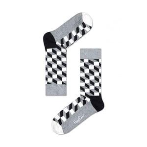 Ponožky Happy Socks Grey Squares, vel. 41-46