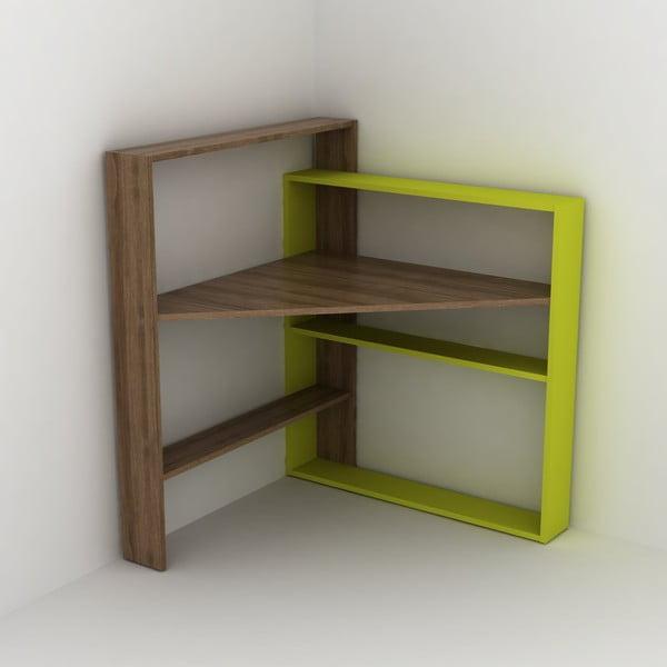 Pracovní stůl s úložnými prostory se zeleným detailem Rafeli Pisagor