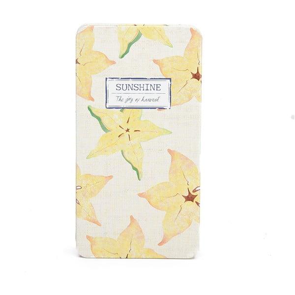 Plechový zápisník Sunshine, vanilka