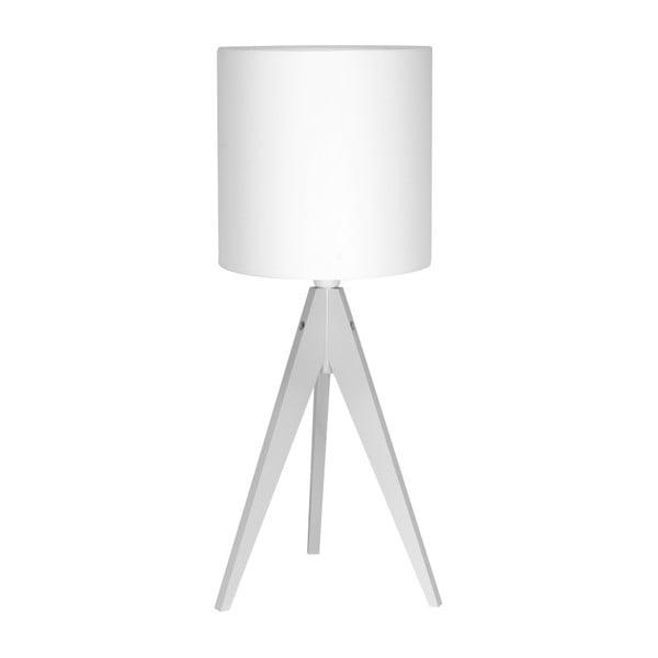 Bílá stolní lampa 4room Artist, bílá lakovaná bříza, Ø 25 cm,
