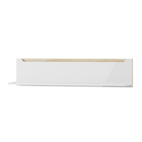 Ice fehér fali polc, 118 cm - Szynaka Meble