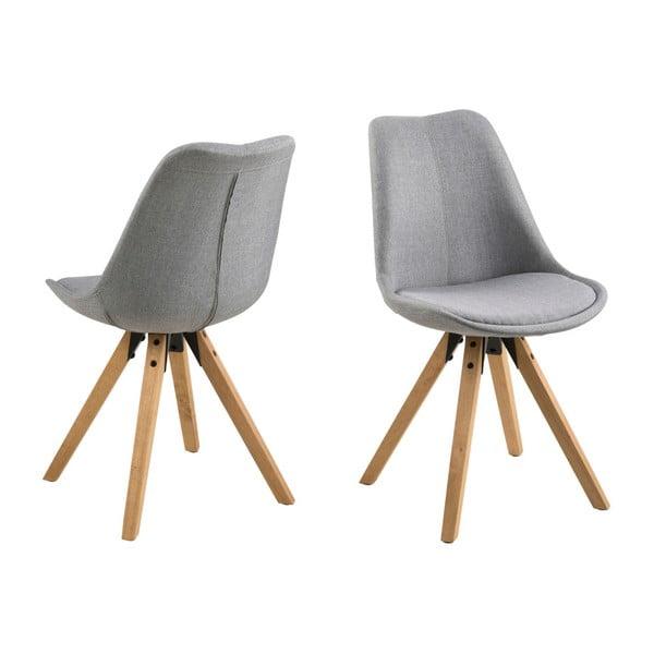 Set 2 scaune Actona Dima, gri deschis