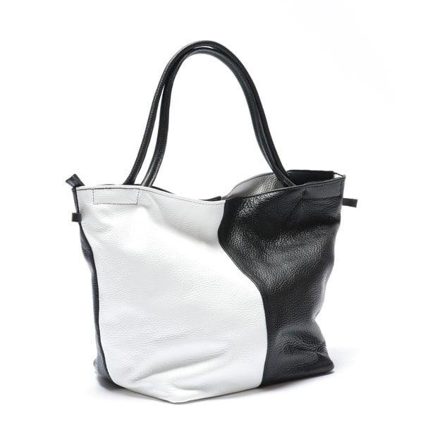 Kožená kabelka Mangotti 1168, černá