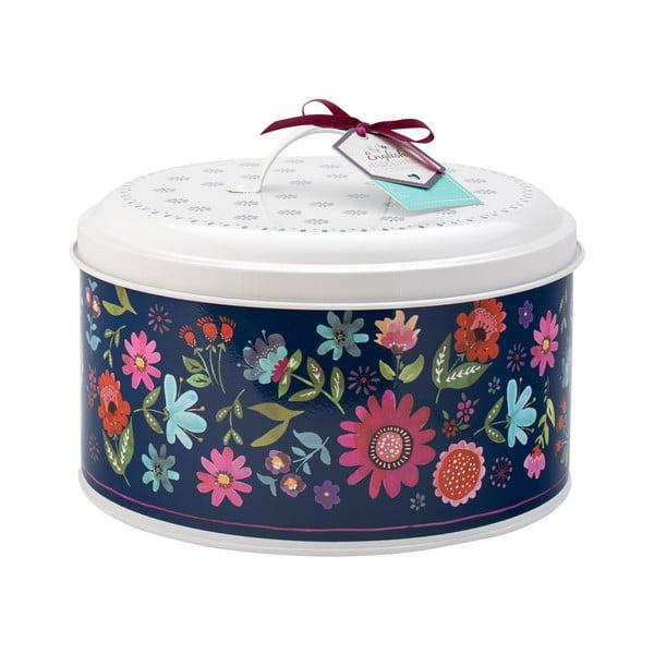 Modro-bílý box na dort David Masin Sabina, ⌀ 24,5 cm