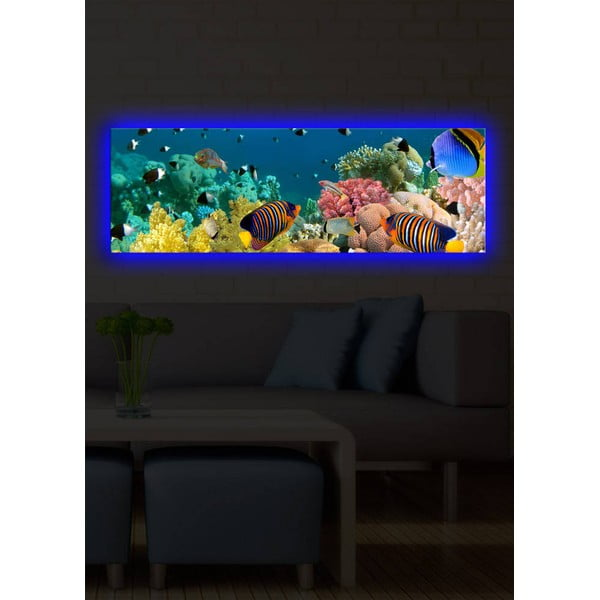 Podsvícený obraz Under the Sea, 30x90 cm