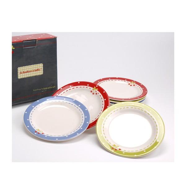 Sada 6 barevných talířů Amadeus