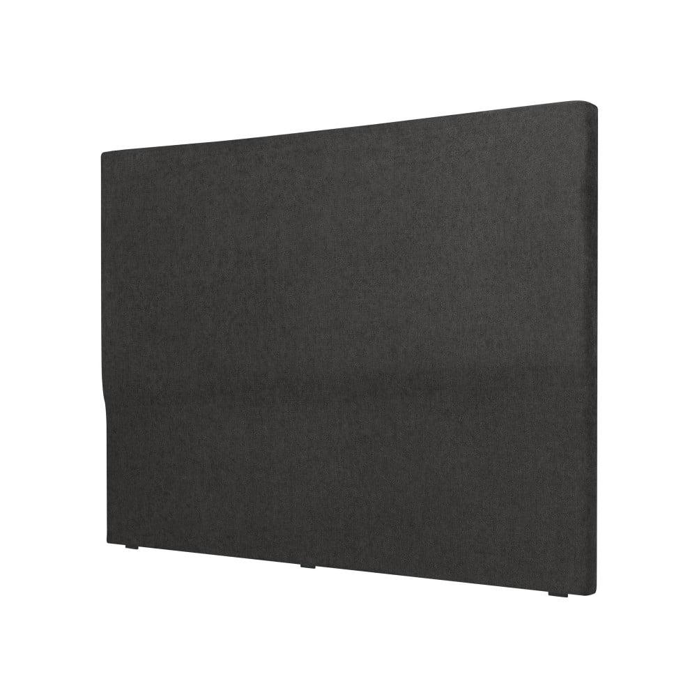 Černé čelo postele Cosmopolitan design Naples, šířka 142 cm