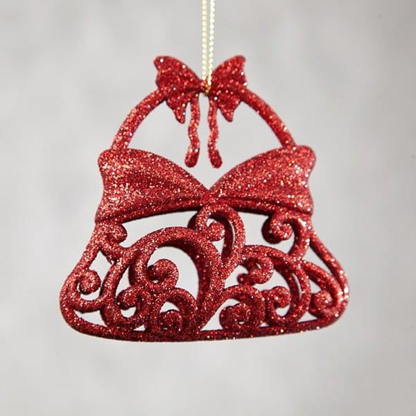 Set 6 decorațiuni din plastic pentru Crăciun DecoKing Bell, roșu