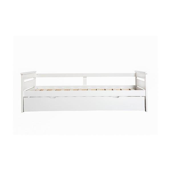 Biała rozkładane łóżko Marckeric Romantica, 90x190 cm