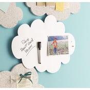 Bílá magnetická nástěnka ve tvaru mraku Design Ideas Cloud