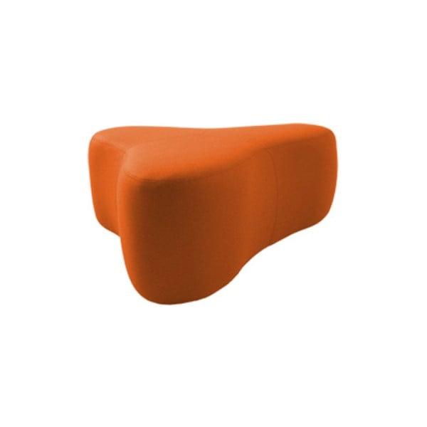 Oražový puf Softline Chat Felt Orange, délka 90 cm