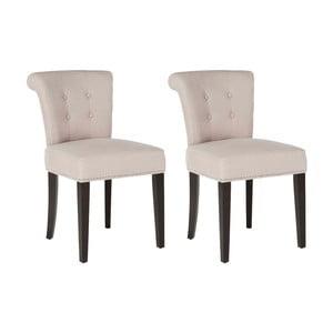 Sada 2 židlí Alice Ecru