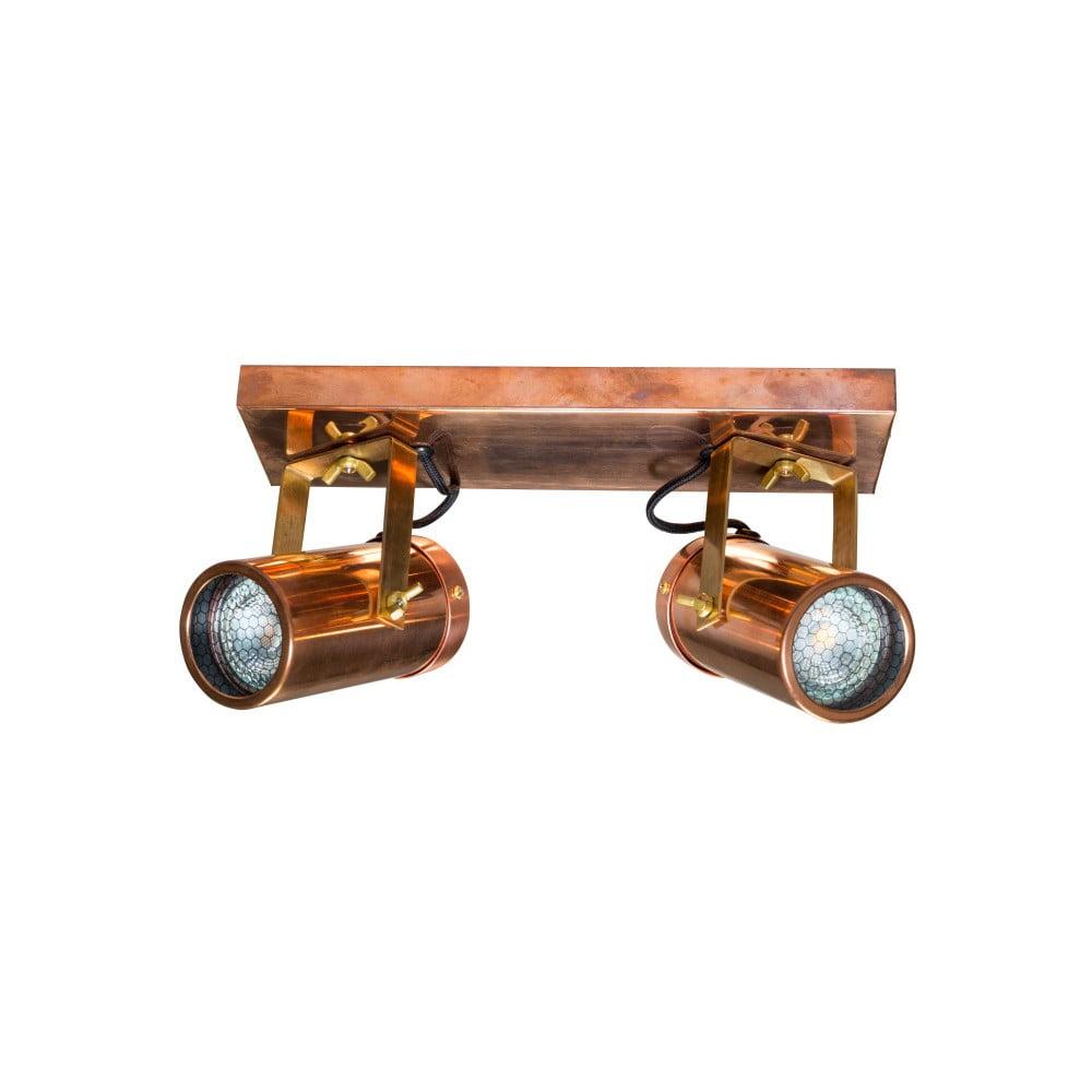 Nástěnné svítidlo v měděné barvě Dutchbone Scope Duo