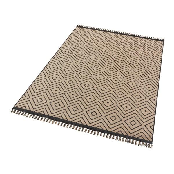 Béžovočerný koberec Hanse Home Intense Sulo, 80 x 150 cm