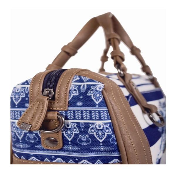 Modro-bílá taška Lois, 30 x 20 cm