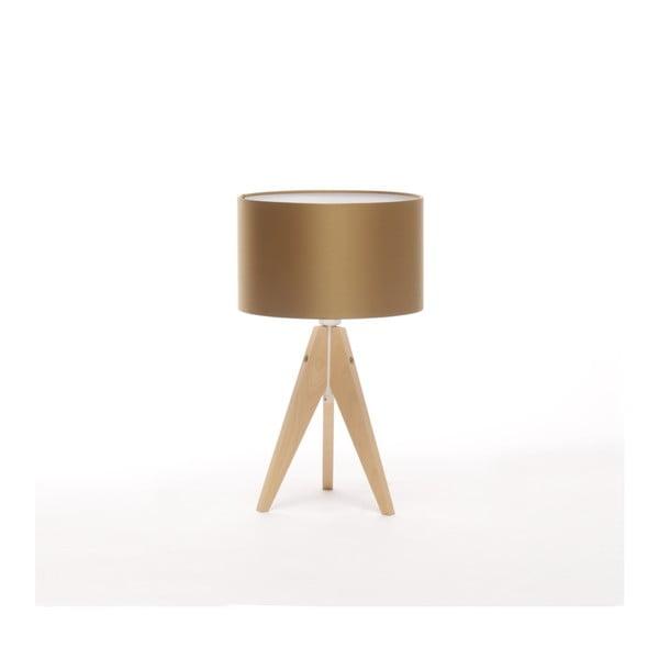 Zlatá  stolní lampa 4room Artist, bříza, Ø 25 cm