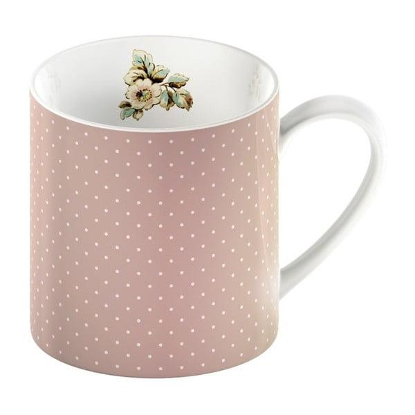 Cottage Flower rózsaszín porcelán bögre pöttyökkel, 330 ml - Creative Tops