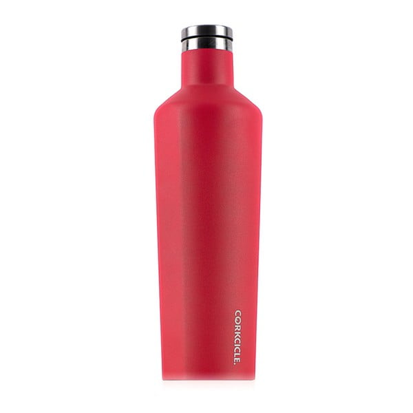Termos Corkcicle Canteen Red Large, 740 ml, roșu