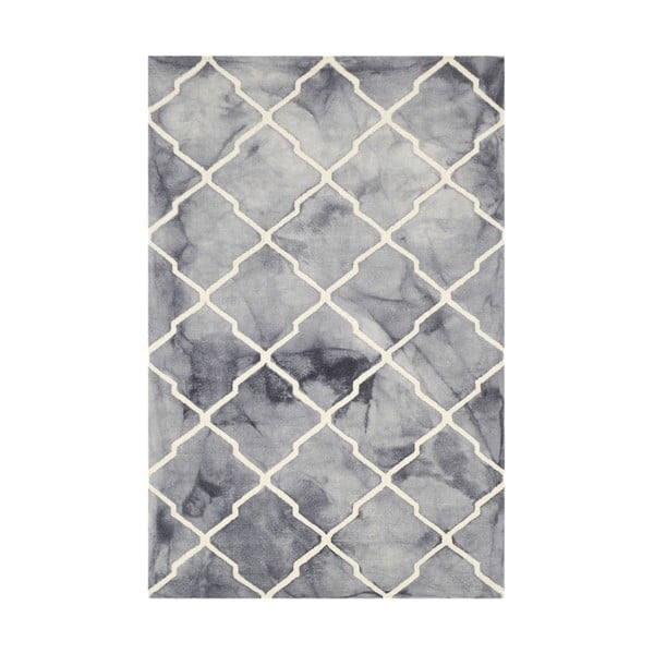 Ručně tuftovaný šedý kkoberec Bakero Batik, 153x244cm