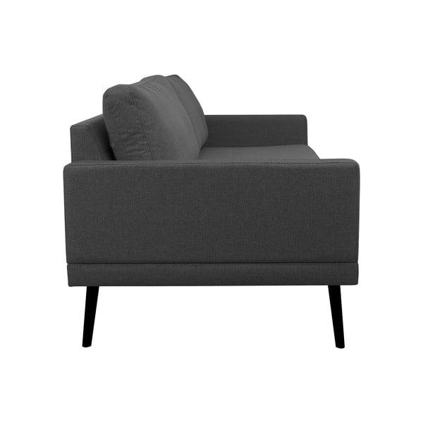 Tmavě šedá trojmístná pohovka Windsor & Co Sofas Rigel
