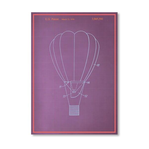 Plakát Hot Air Baloon, 30x42 cm