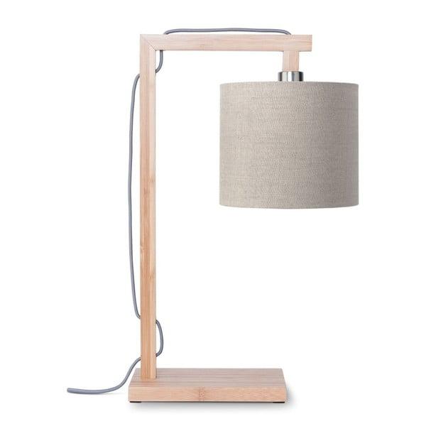 Himalaya asztali lámpa bézs búrával és bambusz lámpatesttel - Good&Mojo